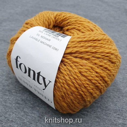 Fonty Super Tweed (26 горчица) 95% меринос, 5% мохер 50 г/110 м