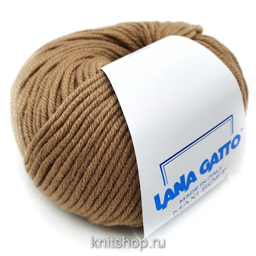 Lana Gatto Maxi Soft (14202 кэмл) 100% меринос экстрафайн 50 г/90 м