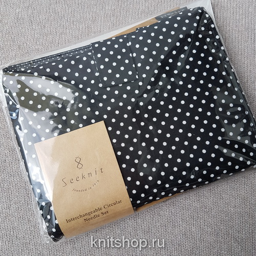 Набор спиц KA Seeknit STD Set 12 пар, цвет Polka-Dot Black