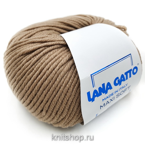 Lana Gatto Maxi Soft (10046 беж) 100% меринос экстрафайн 50 г/90 м