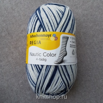 Schachenmayr Regia Nautic Color (01737) 75% меринос, 25% полиамид 100 г/420 м